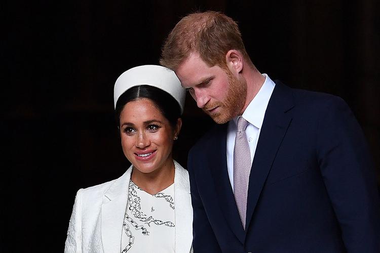 Harry - Meghan sau khi tham dự một sự kiện của Khối Thịnh vượng chung ở London hồi tháng 3/2019. Ảnh: AFP