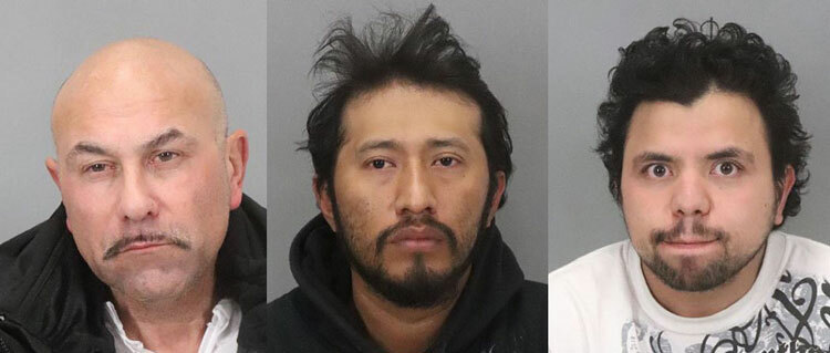 Albert Vasquez (trái), Antonio Salvador (giữa), và Hediberto Avarenga. Ảnh: San Jose Police Department.