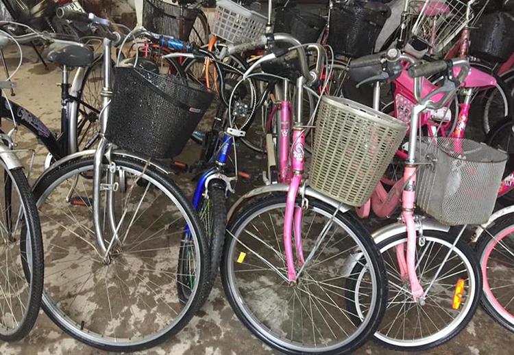 Những chiếc xe đạp được làm mới. Ảnh: NVCC