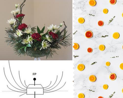 Cách cắm hoa này phù hợp vớinhững loại bình tương đối nông, hình oval hoặc bầu dục.