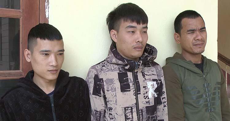 Ba nghi can Tuấn, Tám và Uy (từ trái qua). Ảnh: Lam Sơn.