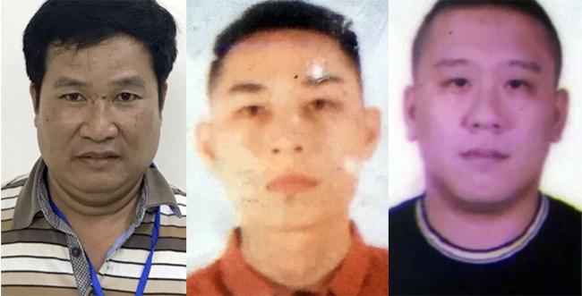 Phạm Văn Hiệp, Mai Tiến Dũng, Nguyễn Bảo Trung từ trái qua. Ảnh. Cơ quan điều tra