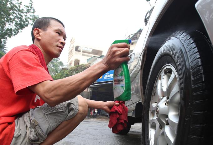 Giá rửa xe tăng 3 lần ngày giáp Tết