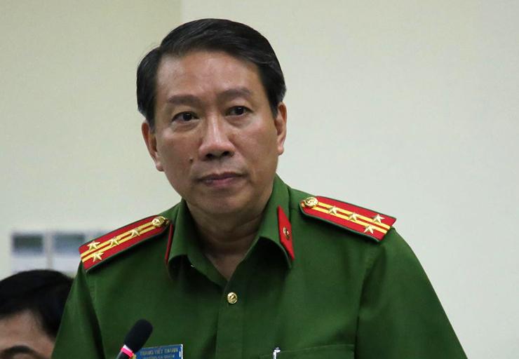 Đại tá Trang Viết Thanh. Ảnh: Quốc Thắng.