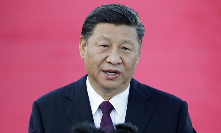 Chủ tịch Trung Quốc Tập Cận Bình phát biểu tại sân bay Macau hồi tháng 12 năm ngoái. Ảnh: Reuters.