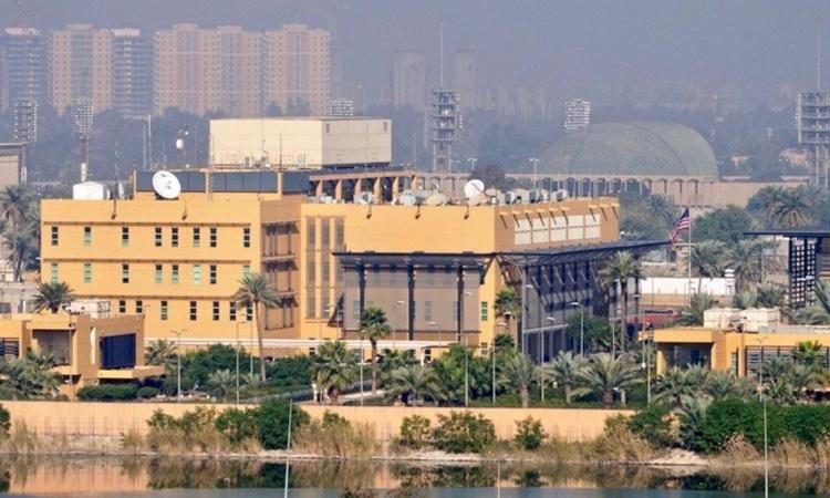 Đại sứ quán Mỹ bên bờ sông Tigris ở thủ đô Baghdad, Iraq. Ảnh: Reuters.