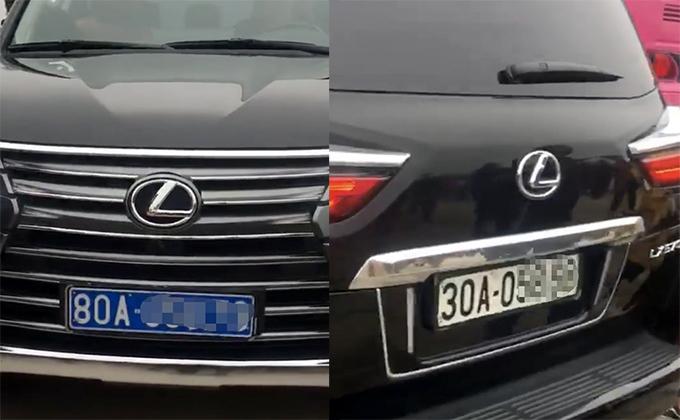 Xe Lexus gắn hai loại biển