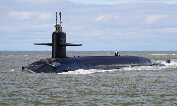 Tàu ngầm USS Alaska thuộc lớp Ohio về cảng hồi đầu năm 2019. Ảnh: US Navy.