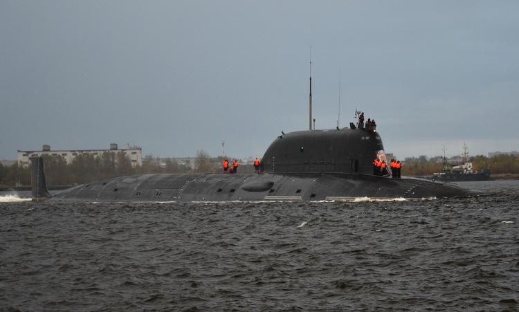 Tàu ngầm Kazan thuộc lớp Yasen-M ra biển cuối năm 2018. Ảnh: Oleg Kuleshov.
