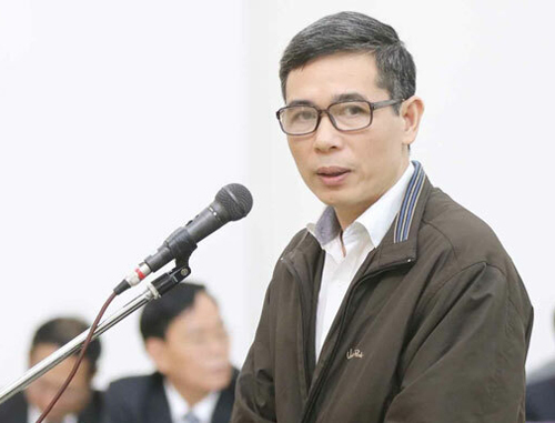 Bị cáo Phạm Đình Trọng tại phiên tòa sơ thẩm. Ảnh: TTXVN