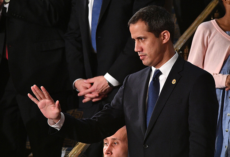 Thủ lĩnh đối lập Venezuela tại quốc hội Mỹ. Ảnh: AFP.