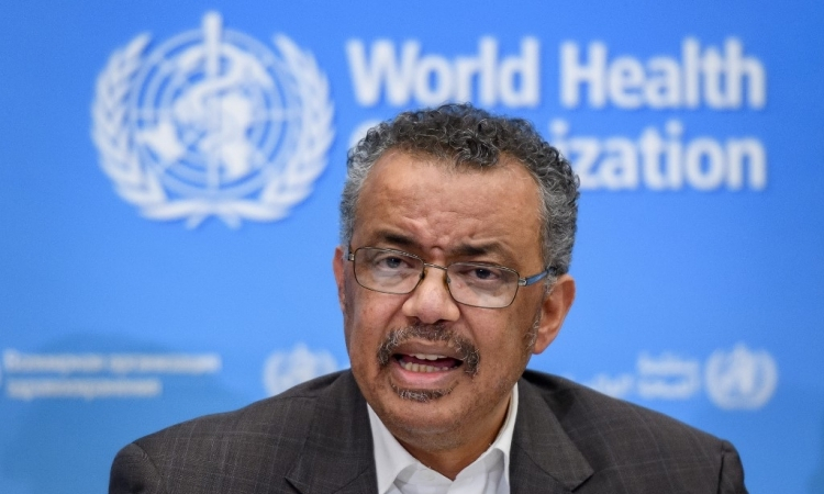 Tổng giám đốc WHO Tedros Adhanom Ghebreyesus trong cuộc họp báo tại Thụy Sĩ hôm 30/1. Ảnh: AFP.