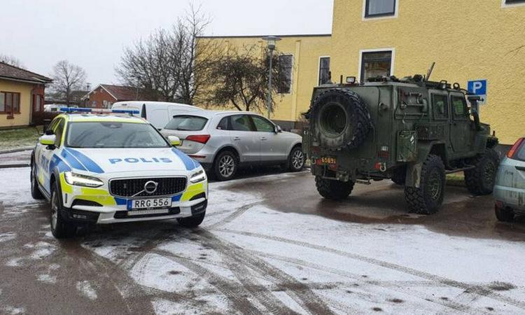 Một xe RG-32 Scout được cảnh sát tìm thấy hôm 7/2. Ảnh: SVT.
