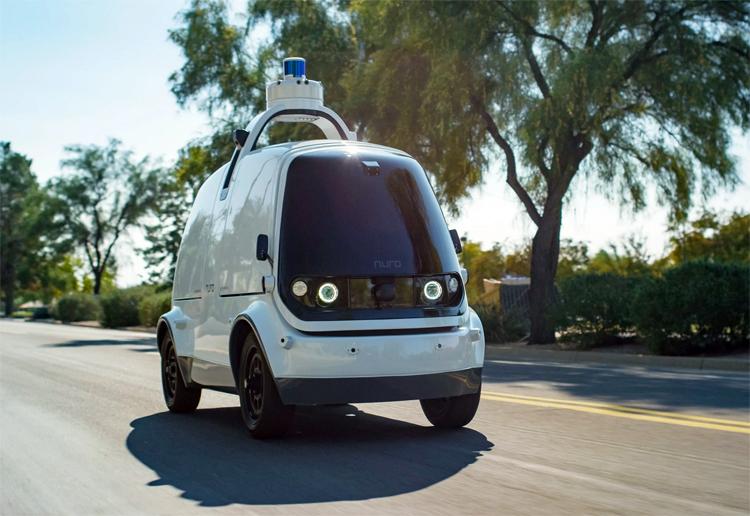 Xe Nuro trang bị lidar, radar và các camera với công nghệ lái tự động giúp hoạt động mà không cần người điều khiển. Ảnh: Nuro