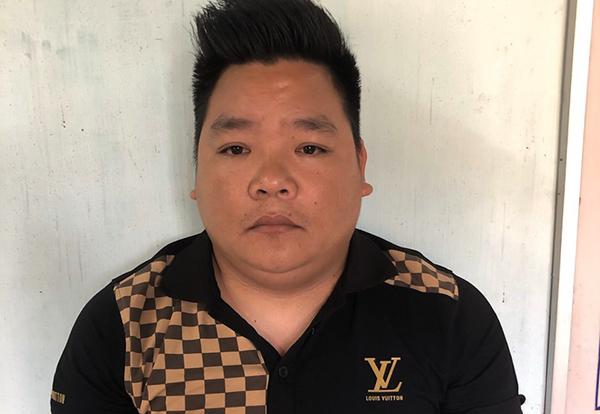 Trần Văn Tuấn tại cơ quan điều tra. Ảnh: Công an cung cấp.