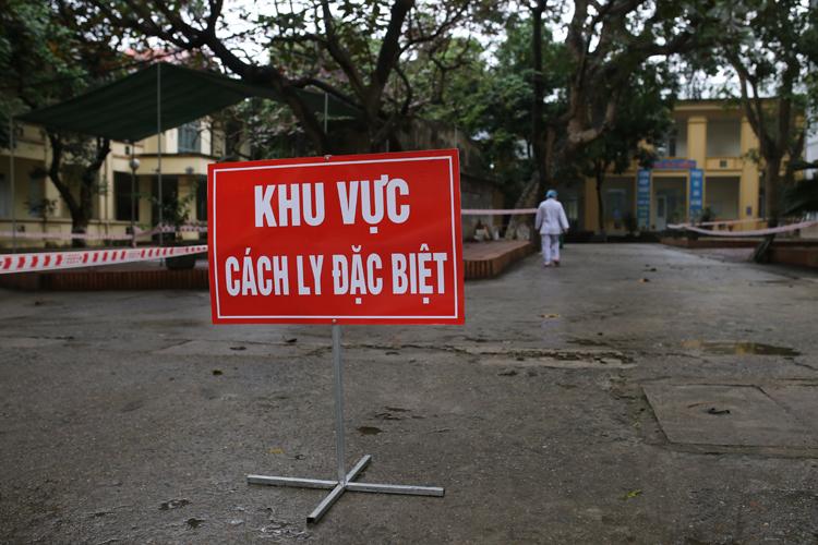 Khu vực cách ly người nghi nhiễm nCoV ở Trung tâm Y tế huyện Bình Xuyên, Vĩnh Phúc. Ảnh: Tất Định