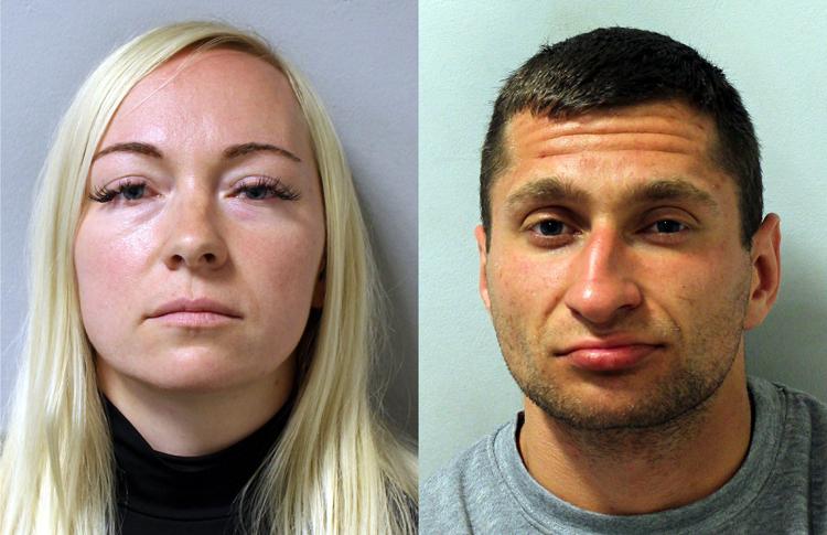 Công tố viên cáo buộc Asta Juskauskiene (trái) biết chắc Mantas Kvedaras sẽ giết chồng nhưng vẫn dàn xếp vụ đánh nhau. Ảnh: Central News.