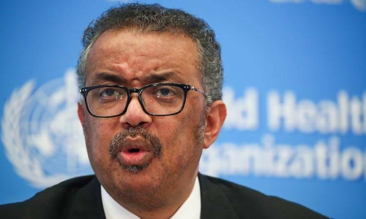 Giám đốc WHO Tedros Adhanom Ghebreyesus trong buổi họp báo tại Geneva, Thụy Sĩ hôm nay. Ảnh: Reuters.