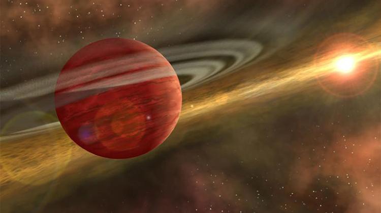 Đồ họa mô phỏng hành tinh khí 2MASS 1155-7919 b. Ảnh: CNN.