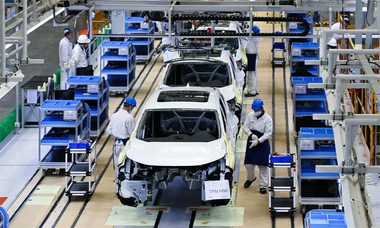 Một nhà máy của Honda ở Vũ Hán, sẽ dừng hoạt động đến hết tháng hai. Ảnh: Nikkei