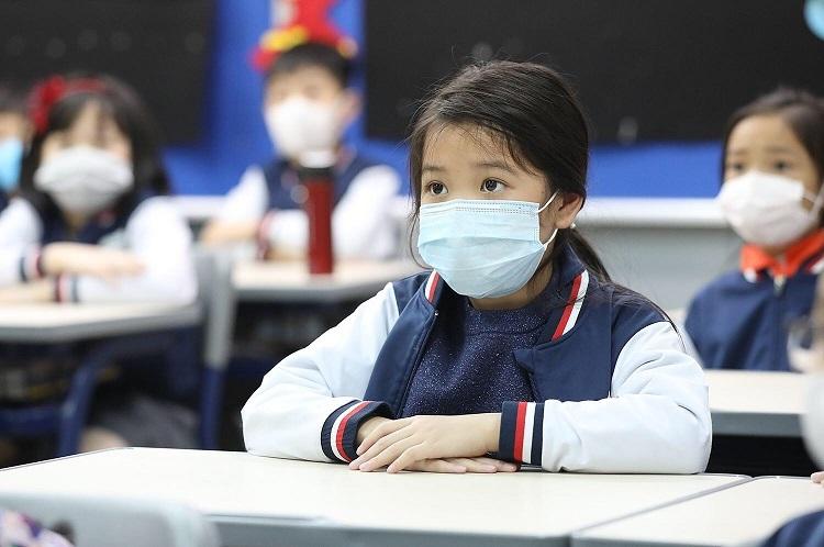 Học sinh Hà Nội trong buổi học ngày 31/1. Ảnh: Ngọc Thành
