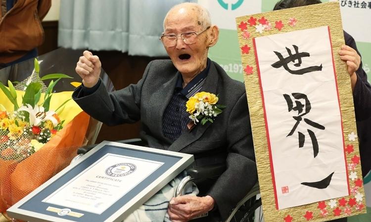 Cụ 112 tuổi là người đàn ông thọ nhất thế giới - ảnh 1