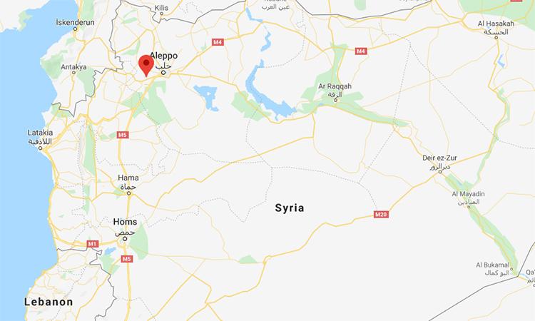 Vị trí thị trấn Urum al-Kubra của Syria (đánh dấu đỏ). Đồ họa: Google.