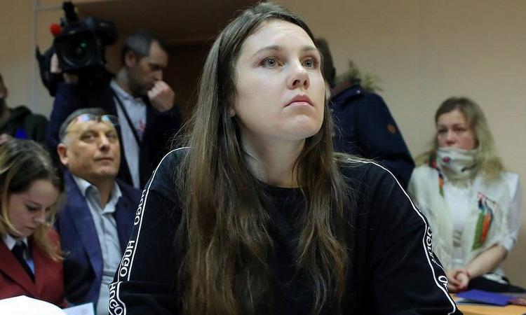 Ilyina trong phiên tòa tại thành phố Saint Petersburg hôm nay. Ảnh: TASS.