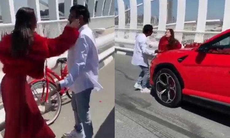 Người đẹp đánh bạn trai vì được tặng ''siêu xe'' -
