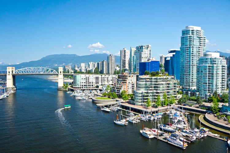 Một góc thành phố Vancouver, tiểu bang British Columbia, Canada. Ảnh: Shutterstock.