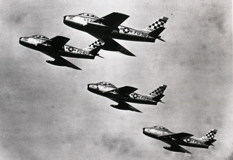 Một biên đội tiêm kích F-86 Mỹ trong Chiến tranh Triều Tiên. Ảnh: USAF.