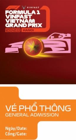 Biểu tượng văn hóa Việt trên tấm vé F1
