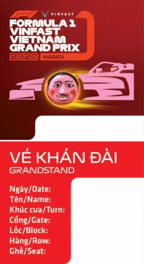 Biểu tượng văn hóa Việt trên tấm vé F1 - 1