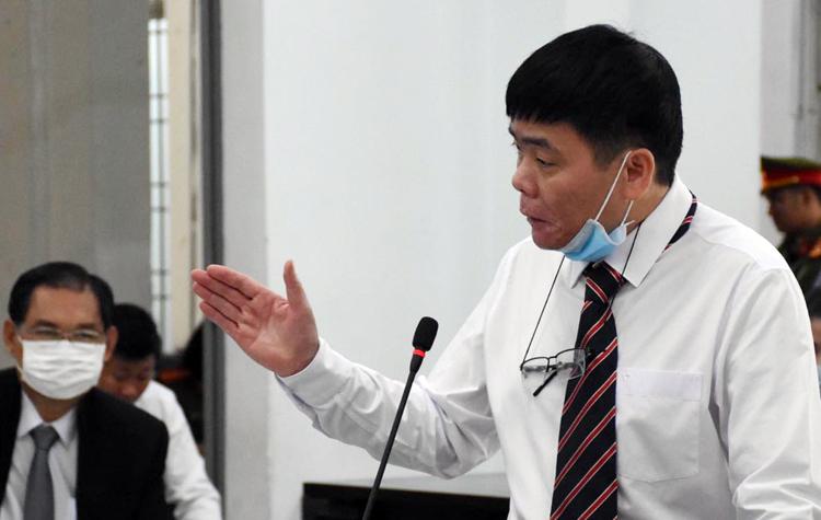 Luật sư Trần Vũ Hải trong phiên xử phúc thẩm. Ảnh: An Phước.