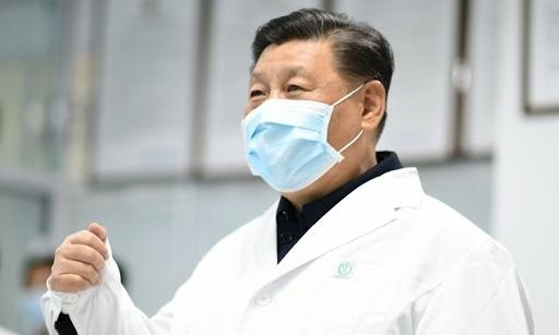 Chủ tịch Trung Quốc Tập Cận Bình thăm trung tâm phòng dịch ở Bắc Kinh ngày 10/2. Ảnh: AFP.