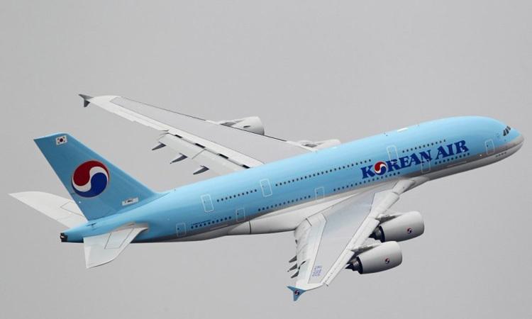 Một máy bay chở khách Airbus A380 của hãng hàng không Korean Air. Ảnh: Reuters.