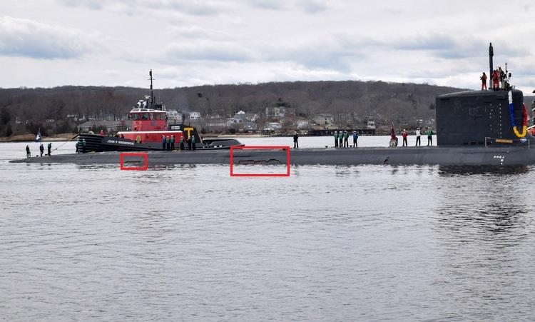 Tàu ngầm Mỹ rách vỏ trong lần đầu tuần tra - ảnh 1