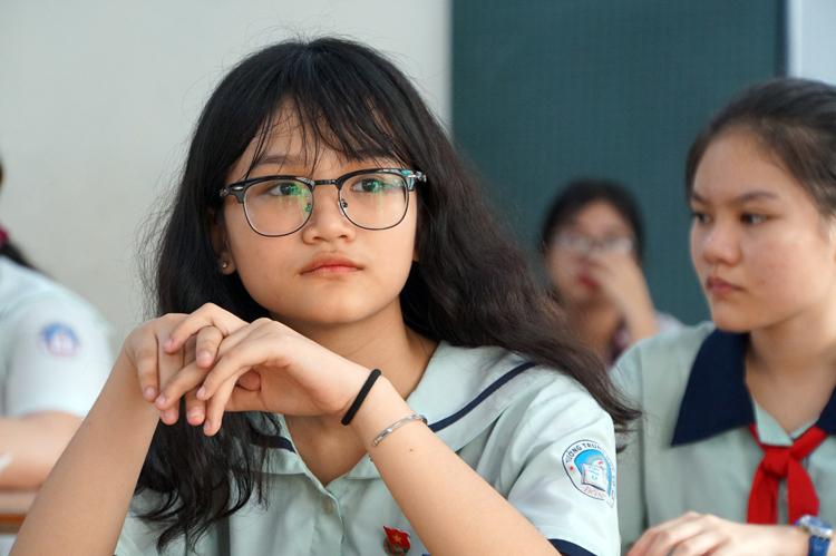 Học sinh lớp 9 tại TP HCM trong kỳ thi tuyển sinh lớp 10 THPT công lập năm 2019. Ảnh: Mạnh Tùng.