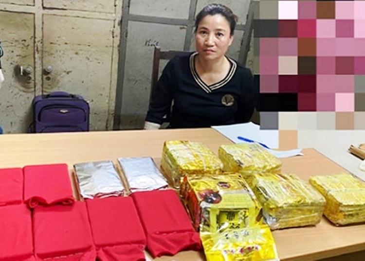 Lâm Bích Liên bị bắt cùng hơn 20kg ma túy các loại. Ảnh: CAHP