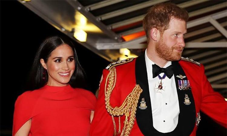 Harry - Meghan tại  Liên hoan âm nhạc Mountbatten ở London, Anh hôm 7/3. Ảnh: Reuters.