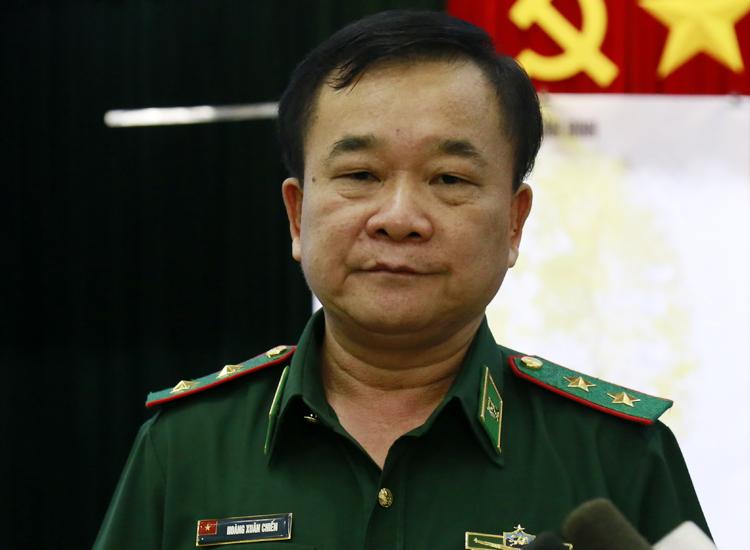 Trung tướng Hoàng Xuân Chiến tại buổi làm việc với Bộ đội biên phòng hôm nay. Ảnh: Hữu Công.