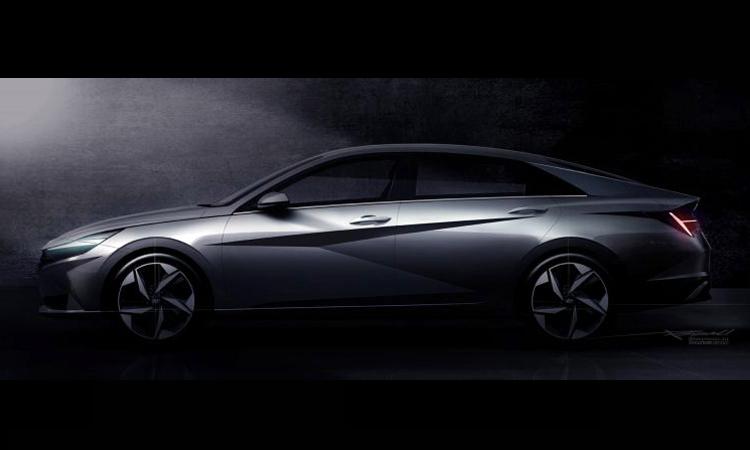 Elantra thế hệ mới với các đường cắt xẻ, dập nổi táo bạo. Ảnh: Hyundai