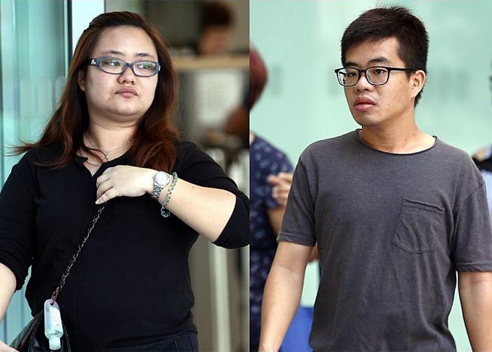 Amanda Yeo Pei Min (trái) và Leong Wei Guo. Ảnh: Wong Kwai Chow/Strait Times.
