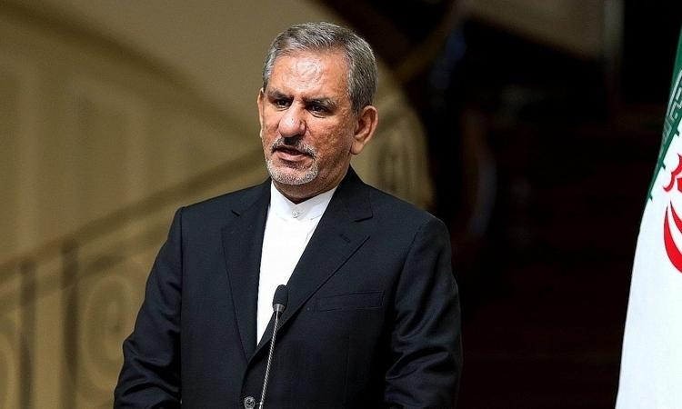 Phó Tổng thống thứ nhất Eshaq Jahangiri trong cuộc họp ở Iran năm 2016. Ảnh: AP.