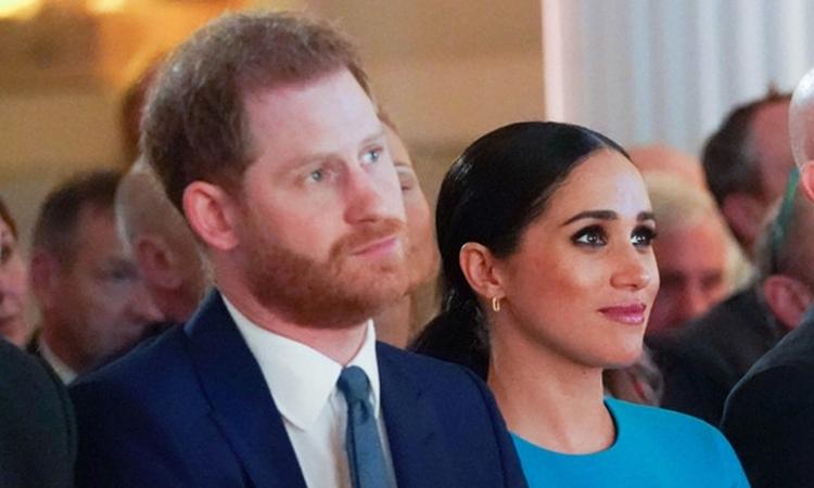 Harry và Meghan tại lễ trao giải của Quỹ Endeavour, London, Anh, tối 5/3. Ảnh: AFP.