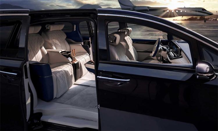 GL8 Avenir phiên bản bốn chỗ với đặc quyền không gian cho hàng ghế sau, và ghế phong cách hạng nhất. Ảnh: Buick