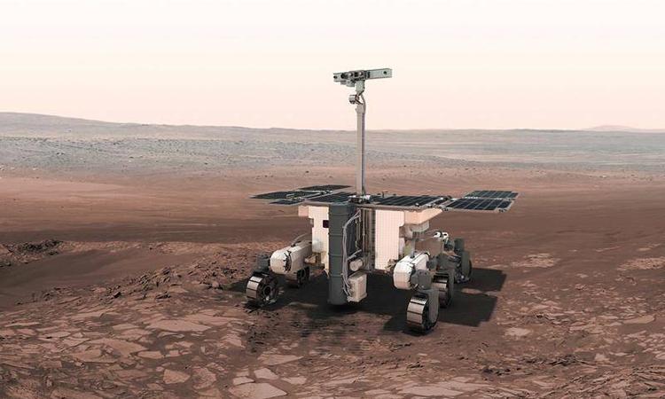 Đồ họa mô phỏng robot hoạt động trên sao Hỏa. Ảnh: Examiner.