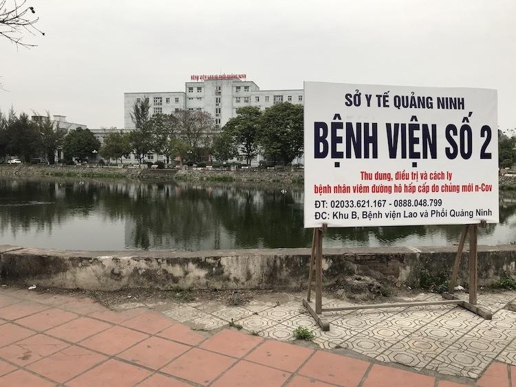 Bệnh viện Lao và Phổi bị phong tỏa. Ảnh: Minh Cương