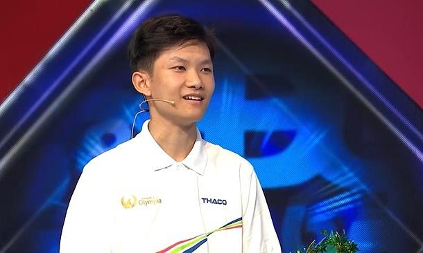 Thí sinh Vũ Quốc Anh. Ảnh: VTV