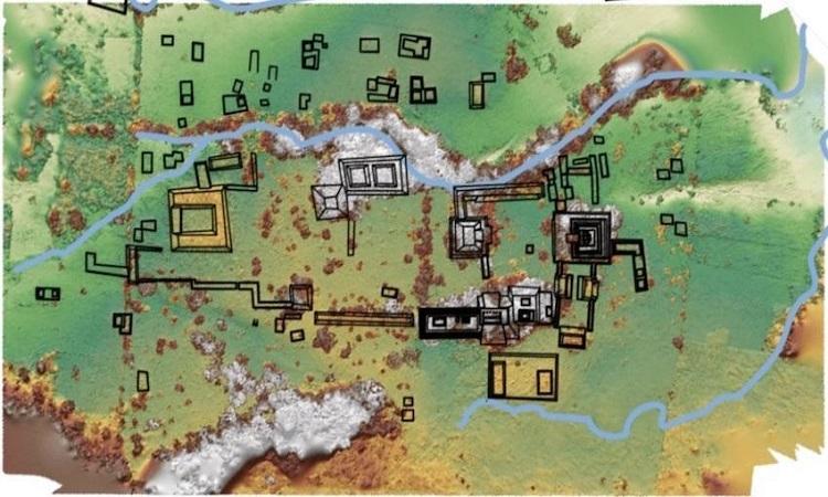 Bản đồ sơ bộ khu vực khai quật. Ảnh: IB Times.